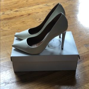 Steve Madden Proto  Heels White Leather 9.5